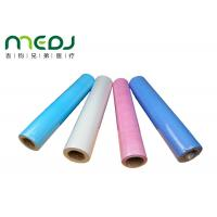 Cheap Paper And PE Medical Disposable Bed Sheets 49cmX50m Fabric Roll for sale