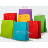 Quality Fancy Shopping Paper Gift Bag packaging paper bag With Handles of packaging,Luxury Clothes paper carrier bag for packing wholesale