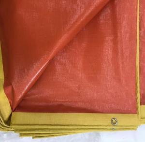 Cheap Custom Red Plastic Heavy Duty Tarpaulin Sheet For Sports Grass Fields Covers for sale