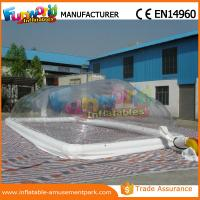 Cheap Double stitching Tramsparent Inflatable Swimming Pool Cover Customized wholesale