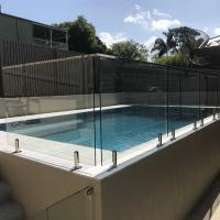Buy cheap Outdoor Buttom Supports Framless Structural clear Tempered Glass Swimming Pool from wholesalers