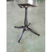Cheap Black Color Bistro Table Base Customized Bar Table Leg Cast Iron Material for sale