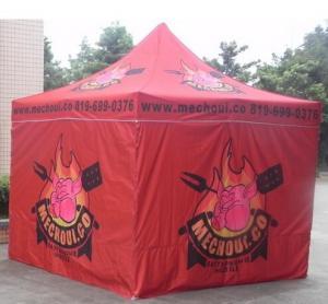 Red 10x10ft Easy Folding garden Pop Up Gazebo Tent Dye Sublimation Printing