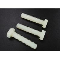 Cheap M5 X 10 Plastic Nylon Hex Head Screws PA 66 UL 94V-2 Flat Point For Car Industry for sale