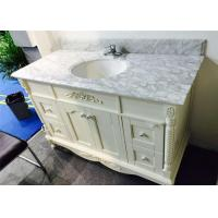 Quality Angel White 40 Inch Bathroom Vanity With Top , Bathroom Sink And Cabinet wholesale