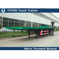 Cheap Heavy duty type suspension 2 axles 40ft flat bed trailers 2 inch / 3.5 inch Kingpin for sale