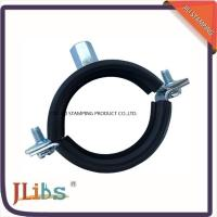 Buy cheap High Quality Cast Iron pipe clamp in Eurpe market welding  M8+10 nut with Rubber from wholesalers