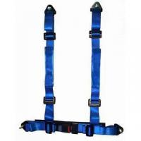 Cheap Durable Blue Nylon Racing Safety Belts With Retractor , Four Point Seat Belt for sale