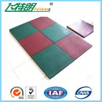Buy cheap Outdoor Kindergarten Recycled Dyed Rubber Playground Tiles 50 × 50 × 2.5 Cm from wholesalers