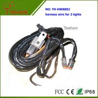 Cheap Waterproof and Fireproof Wiring Harness with Deutch connectors for 2 Lights Simultaneously for sale