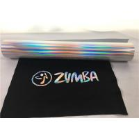 Cheap 27 Yards Siser Hologram Heat Transfer Vinyl  , Easy Weed Silver Holographic Vinyl for sale