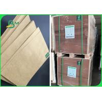 China 80g 100g 120g High Stiffness Brown Kraft Paper For Packing Rice 70 * 100cm on sale