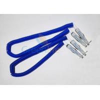Cheap Plastic Stretchy Dental Scarfpin Coiled Cord Blue Color 30CM Long Custom Logo Printing for sale