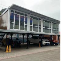 Cheap movable prefab container house with 75mm glass fiber sandwich wall panel shipping container home for sale