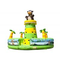 Cheap Monkey Jungle Inflatable Rock Climbing Bounce House , Water Park Blow Up Rock Climbing Wall for sale