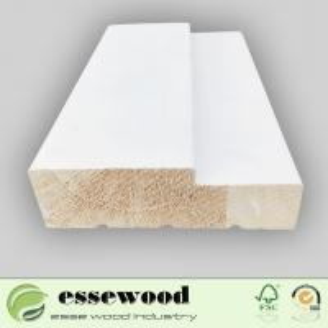 China Wholesale Custom Wood Door F/J Primed Wood Door Jamb Frame Moulding on sale