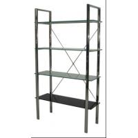 Cheap Four Layer Glass Wall Metal Book Shelf , Tall Metal Office Bookshelves for sale