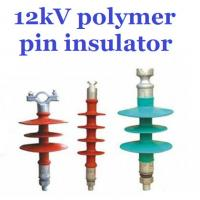 Cheap Overhead Line Polymer Pin Insulator , 12kV Silicone Rubber Insulator Creepage 380mm wholesale
