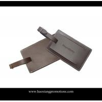 Cheap Hot export high quality leather material id card luggage tag/PU luggage tag for sale