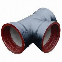 Cheap Ductile Iron PVC Pipe Fitting with Red Anti-rust Coating for sale