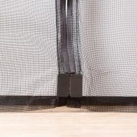 Cheap Black Magnetic Fly Screen Mesh Door Curtain , Velcro Magnetic Screen Door Exterior for sale