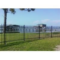 Buy cheap Made in China Australia style black zinc railing tubular steel fence for sale from wholesalers