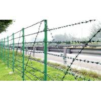 Single strand weave galvanized barbed steel wire fencing