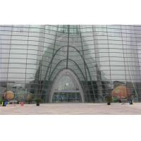 Cheap Heat Proof Bended / Curved Tempered Glass 10mm For Curtain Wall for sale