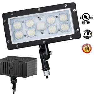 Cheap LED Security Floodlight 5000K Outdoor LED Flood Light Cool White Photocell 70 Watt for sale