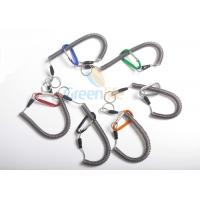 Buy cheap Promotional Steel Reinforced Coiled Bungee Spring Lanyard Tethers Carabinger End from wholesalers