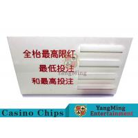 Cheap Baccarat Dedicated Casino Game Accessories Poker Game Table Bet Limit Sign for sale
