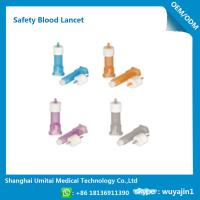 Cheap Pressure Activated Disposable Blood Lancets For Diabetes OEM / ODM Available for sale