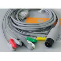 Cheap 5 Leads Ecg Snap Medical Cable , Medical Equipment / Medical Device Accessories for sale