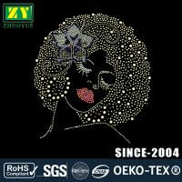 Cheap Custom Design Hotfix Patterns , Multi Color Rhinestone Decals For Shirts for sale