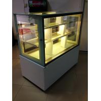 China Sliding Double Doors Cake Display Cabinets Freezer 2 Meters With Marble Tabletop on sale