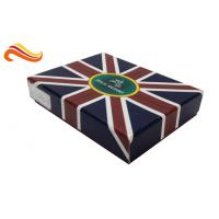 Cheap UK Flag Top and Base Handmade Wallet Apparel Gift Boxes , Customized 1200g Rigid Board Packaging Boxes for sale