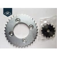 Cheap POP100 Motorcycle Chain And Sprocket Sets 428 106L Sandblasting Natural Color for sale