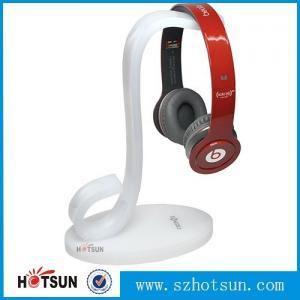 Cheap High quality earphones holder,custom made clear acrylic earphones holder headphone display stand for sale