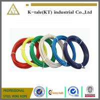 Cheap top quality lifting 3mm pvc coated steel wire rope cheap stianless steel wire for sale
