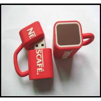 Cheap wholesale OEMNovelty Coffee Cup Usb Flash Drives, pvc usb flash drive rubber usb chip for sale