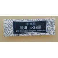 Cheap anti ageing night cream bottle labels with flower pattern background wholesale