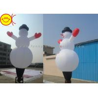 Cheap Waterproof Nylon Inflatable Air Dancer , Christmas Inflatable Snowman for sale