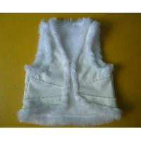 Cheap Suede And Fur Joint Winter Vest Jackets , Warm Womens Sleeveless Vest Jacket for sale