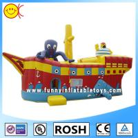 Cheap Cool Sailor Octopus Inflatable Combo Bouncers Party Event Inflatable Ship Bouncer for sale