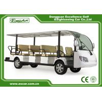 Buy cheap EXCAR White 14 Seater Electric Sightseeing Bus With Trojan Battery from wholesalers
