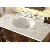 Cheap Professional White Custom Marble Vanity Tops Oval Cutout For Hotel Bathroom for sale