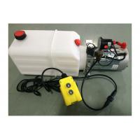Cheap Dump Trailer Hydraulic Power Pack Plastic Tank , DC 12V 2000W wholesale