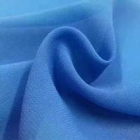 Cheap 2018 the most popular wholesale high quality pearl chiffon fabric Mulinsen Woven Wholesale polyester dyed fabric for sale
