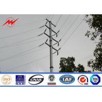 Cheap Hot dip galvanization electrical power pole for over headline project for sale