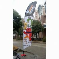 Cheap Decorative Custom Advertising Flags And Banners With Poles + Cross Base + Carry Bag for sale